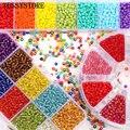 TESSYSTORE 3 мм бисер коробка комплект ювелирных изделий Очаровательные кристальных шайб стеклянные бусины для ювелирные изделия, изготовление ...
