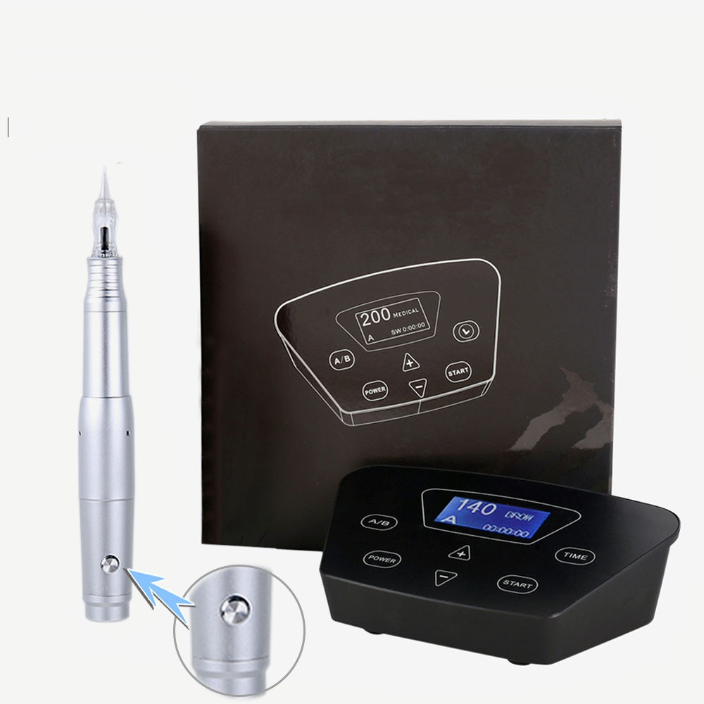 Professional Eyebrow Tattoo Machine Pen For Permanent Make Up Eyebrows Microblading Makeup DIY Kit With Tattoo Needle