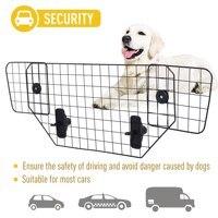 【USA Warehouse】Wire Mesh Universal Backseat Car Pet Barrier Black