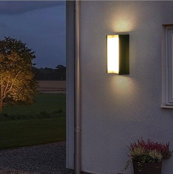 Креативный дверной светильник для балкона, водонепроницаемый настенный светильник, светодиодный внутренний двор, китайский современный минималистский дом, наружная настенная наружная лампа - 3