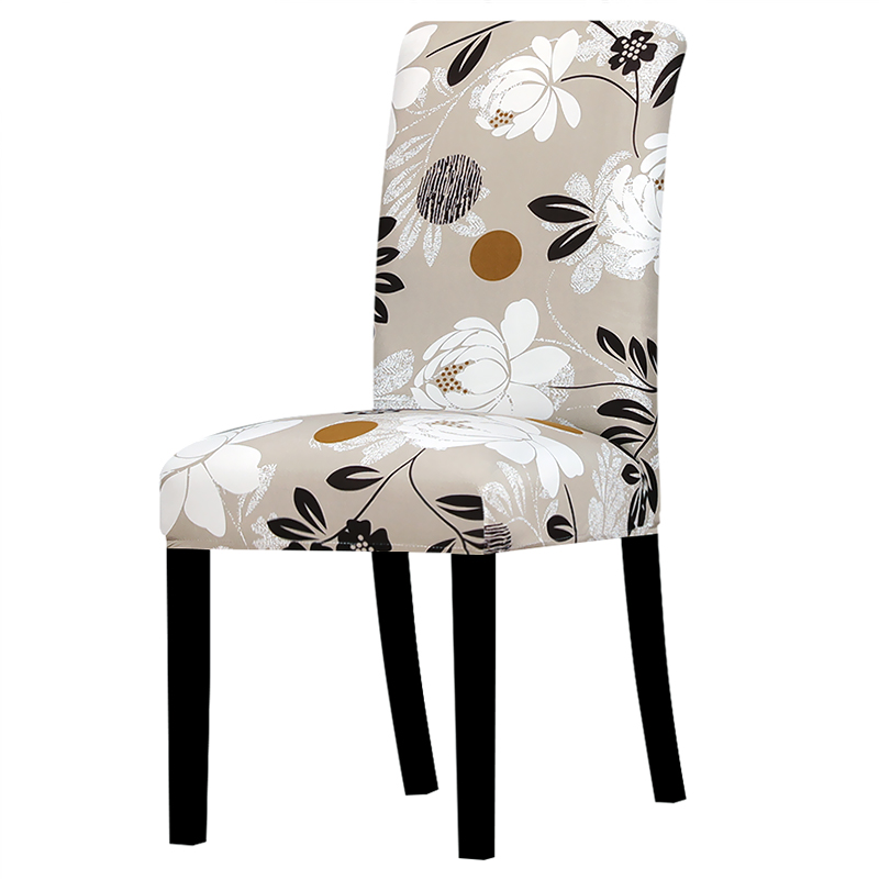 Universal Size Big Elastic Chair Cover Christmas Cheap Stretch Chair Cover Seat Slipcovers For Dining Room Hotel Banquet Home(China)
