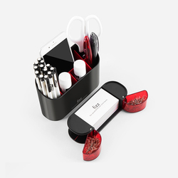 Xiaomi fizz wielofunkcyjny pojemnik na długopisy organizer na biurko ABS obsadka do pióra biurowe pojemnik Box biuro szkolne 6