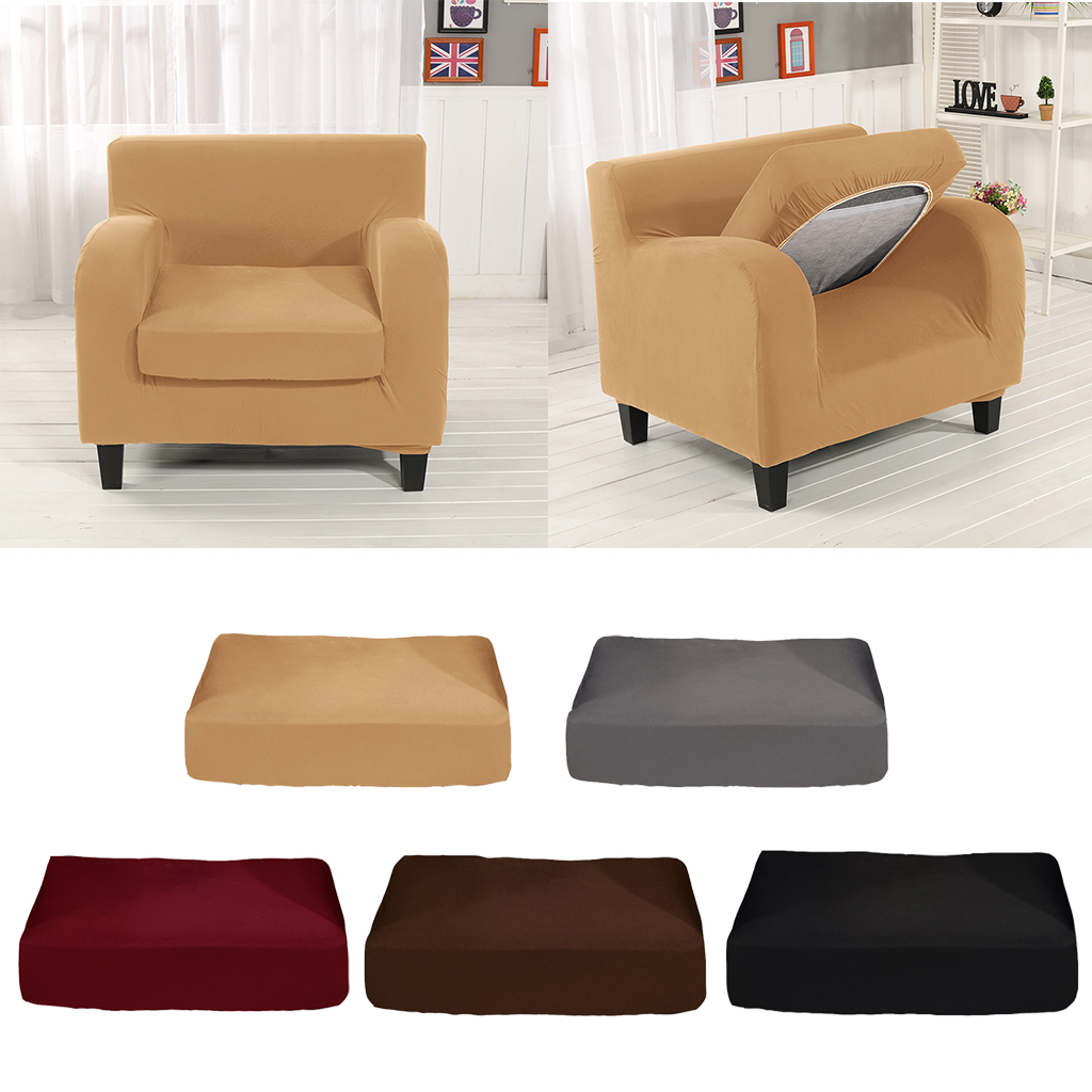 Jacquard Polyester Spandex Slipcover Sofa Love Seat Chair Cushions Cover