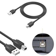 1m/1.5m/2m/3m/5m usb2.0 usb para host midi porta quadrada conector cabo de dados para yamaha casio piano eletrônico bateria