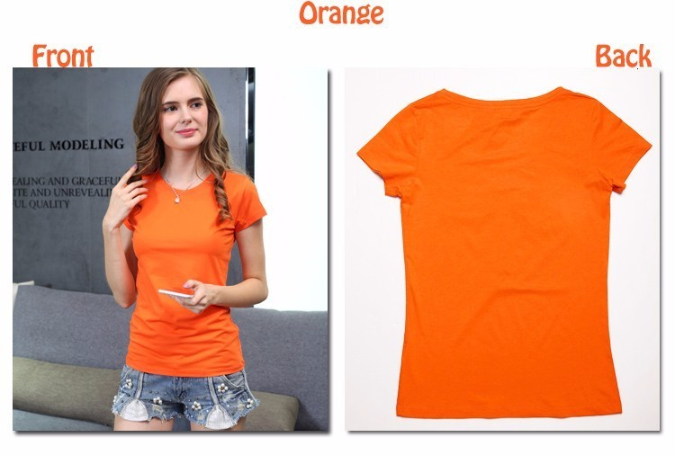 High Quality Plain T Shirt Women Cotton Elastic Basic T-shirts 14