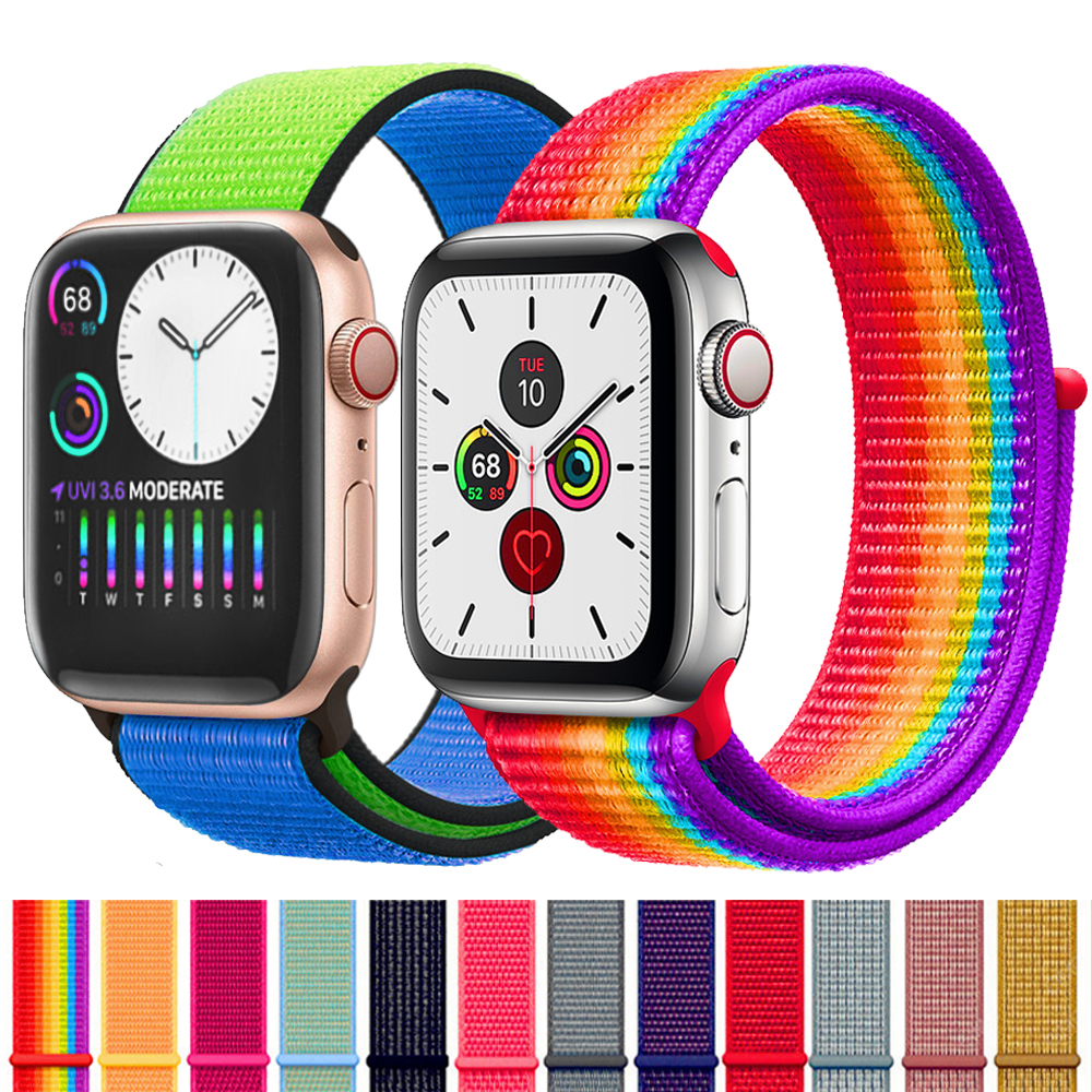 Strap For Apple Watch Band 44 Mm 40mm Apple Watch 5 4 Iwatch Band 5 4 42mm 38mm Sport Loop Nylon Bracelet Watchband Accessories