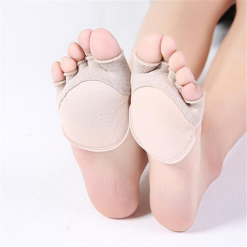 Five-Finger Socks Women Summer Thin Fish Mouth Shoes High Heel Invisible Half Palm Socks Comfortable Plus Pads Five-finger Socks image