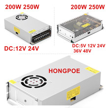 Nuevo LED fuente de alimentación 5V DC 9V 12V 15V 18V 24V 36V 48V 48V 200W 250W de conmutación de la fuente de alimentación transformador AC DC SMPS