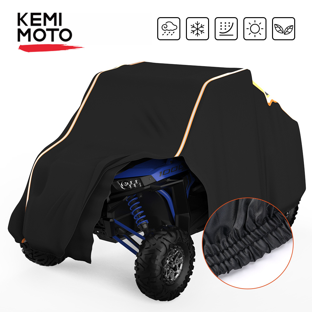 KEMIMOTO UTV Cover Side-by-Side SxS Vehicle Waterproof Sun Shade Storage Cover For Polaris RZR XP /4 1000 900XC