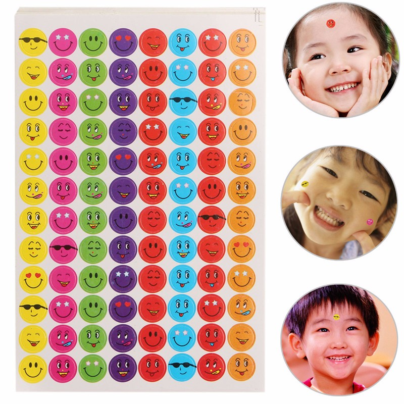 10 Sheet Classic Toys Sticker Decorative Stickers Smile Sticker For Teachers Smiley Face Paper Label School Rewards Kids