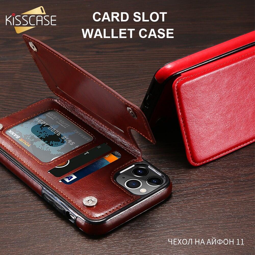 KISSCASE etui portefeuille en cuir poche pour iphone 11 etui portefeuille porte-carte coque pour iphone 11pro 11pro max avec porte carte 5s