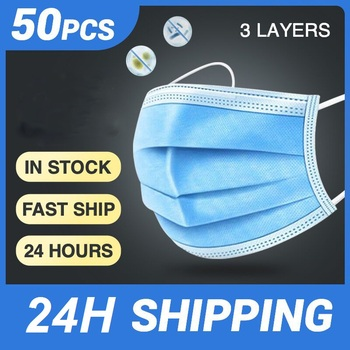 Medical Disposable 3 Layers Mask Filtration Cotton Dustproof Facial Protective Cover Anti-Dust Earloop Face Surgical Masks