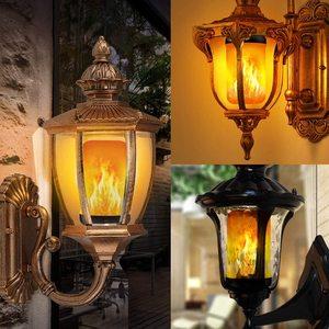 E27 лампа с пламенем светодиодный светильник 4 режима имитация пламени огненные лампы мерцающий праздничный Декор Светильник s креативный ку...