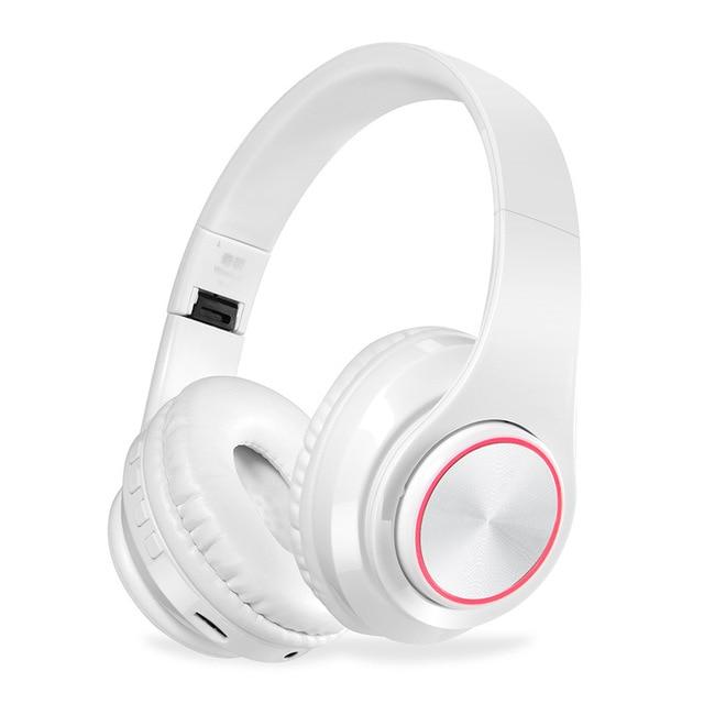 KAPCICE Micro SD Card Slot หูฟังไร้สายหูฟังบลูทูธหูฟังหูฟังพร้อมไมโครโฟนสำหรับโทรศัพท์มือถือ PC