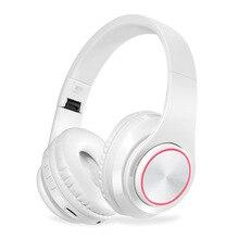 KAPCICE micro sd fente pour carte casque sans fil Bluetooth casque écouteur écouteurs avec Microphone pour PC téléphone portable musique