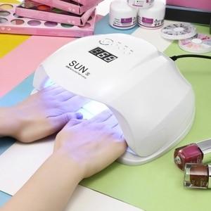 Image 1 - SUN X Lámpara LED para secado de uñas, lámpara de hielo UV de 54W para secado de esmalte de Gel, Sensor automático de 10/30/60/99s, herramientas de manicura con temporizador