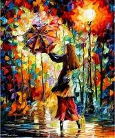 hand painted oil wall knife painting Leonid Afremov artist canvas painting reproduction landscape art oil painting home décor