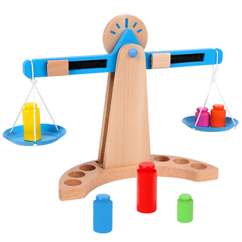 Kids Montessori Materials Scales Weight Timber Set Early Learning Educational Toy New Wooden Funny Math Toys Gift For Children set montessori educational baby early evelopment scale funny balance game wooden toy children math toy gift