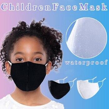 Mascarilla facial reutilizable de algodón para niños, máscara transpirable, ajustable, impermeable, color...