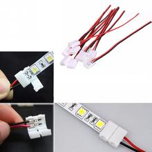 10PC LED Strip Connector Electrical Connect Splice 2-Pins Power Connector Adaptor For 3528/5050 Led Strip Wire With PCB 8mm/10mm