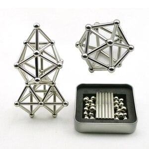 63-189pcs Magnetic Building Bl