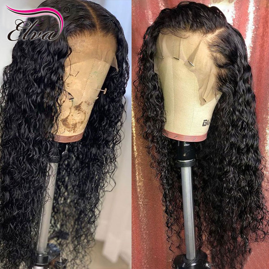 Curly Peruvian Lace Front Wigs For Black Women Pre Plucked 13x6 Lace Front Human Hair Wigs Natural Hairline Elva Hair Lace Wig