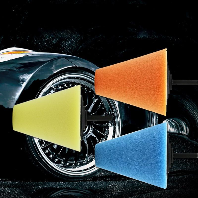 Auto Metal Foam  Clean Hub Polish Car Wheel Sponge Polishing Pad Buffing Shank