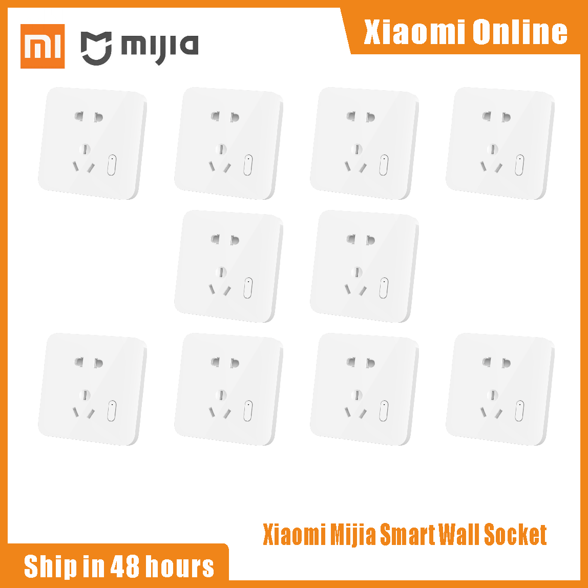Xiaomi Mijia – prise de courant murale intelligente, 2021 V, contrôle vocal, mise à niveau OTA, connexion, pour la maison, 250