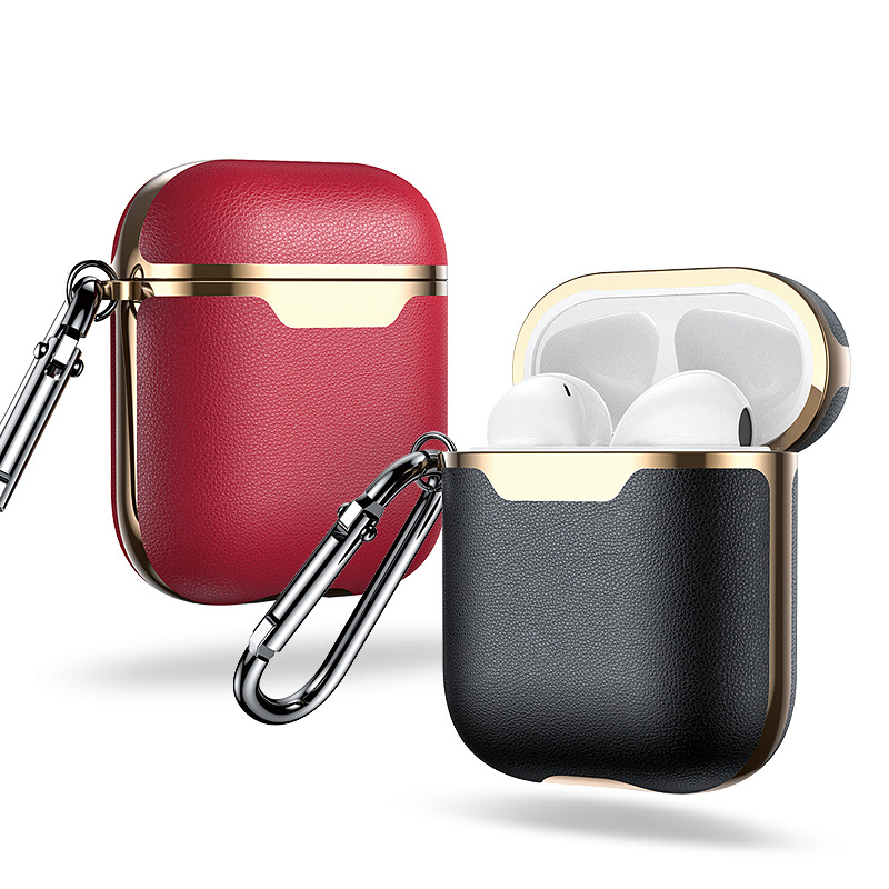 Leather Case For Airpods 2 For Appl e Air Pods Case Cover Bluetooth Earphone Skin Protective Cases for Headphones Accessories