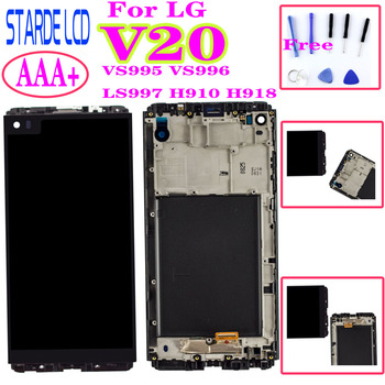 For LG V20 LCD Display VS995 VS996 LS997 H910 H918 Touch Screen Digitizer With Frame Full Assembly Replacement Parts original 5 5 screen for lg g3 d850 d855 lcd display touch screen digitizer assembly replacement repair parts for lg g3 lcd