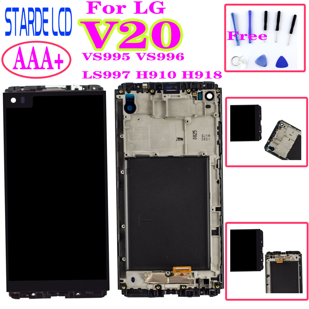 For <font><b>LG</b></font> <font><b>V20</b></font> LCD <font><b>Display</b></font> VS995 VS996 LS997 H910 H918 Touch Screen Digitizer With Frame Full Assembly Replacement Parts image