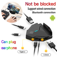 Mobile-Keyboard-Mouse-Converter Gamepad Earphone Pubg-Controller Android Adapter-Support