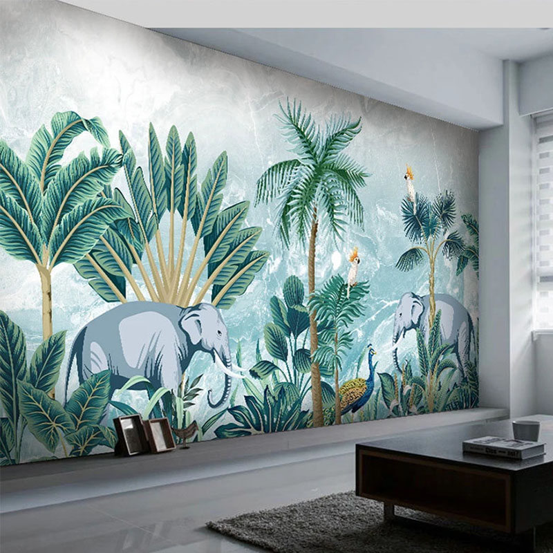 Custom 3D Wall Murals Modern Rainforest Plant Wallpapers Living Room TV Sofa Bedroom Home Decor Wall Painting Papel De Parede 3D