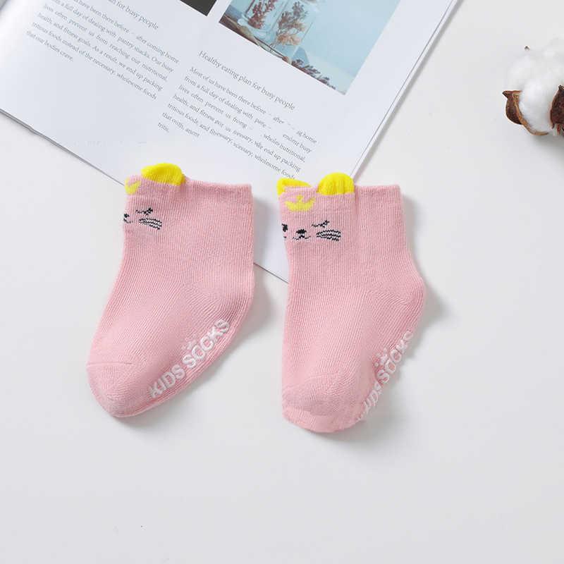 Venda quente bonito dos desenhos animados bebê meias 3d orelhas animais 0-3 anos crianças meias de algodão para recém-nascidos menina menino crianças atacado