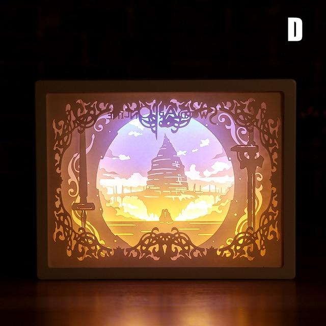 Nouveauté veilleuse Totoro papier-coupe atmosphère lampe 3D papier sculpture Art décoration lampe USB puissance pour salon chambre NDS