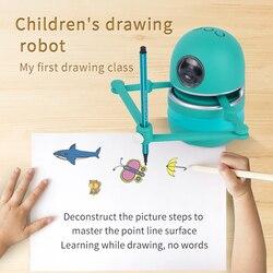 Chinesische Neue Kleine Magie Q Zeichnung Roboter Spielzeug für Kinder/Studenten Lernen Ziehen Spielzeug Kinder Spielzeug Jungen Mädchen Spielzeug