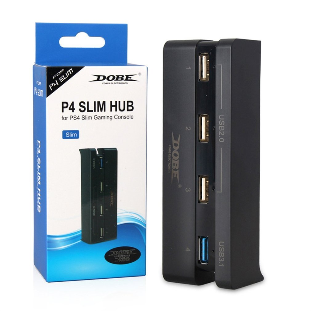 Super High Speed 4 In 1 USB Hub Suitable For Sony PlayStation 4 Slim PS4 Slim Console Black Controller Accessory