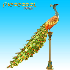 Image 5 - Toy Adult puzzle 3D Metal Puzzle  Colorful Peacock DIY Laser Jigsaw Puzzle Model Kit High Difficult Teen Toy Puzzle