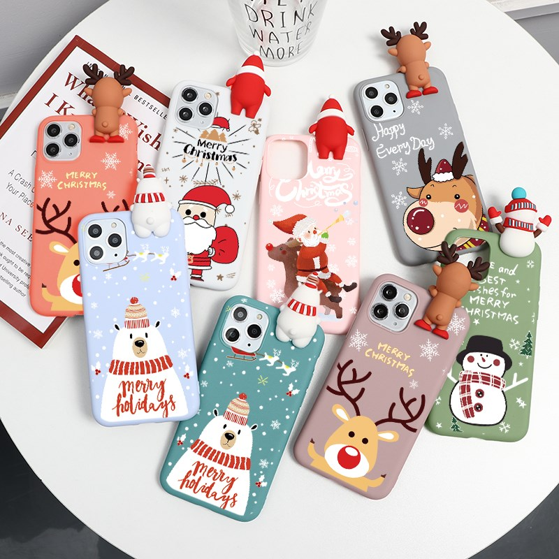Cute 3D Cartoon Doll Christmas Deer Case For iPhone 12 Pro Max