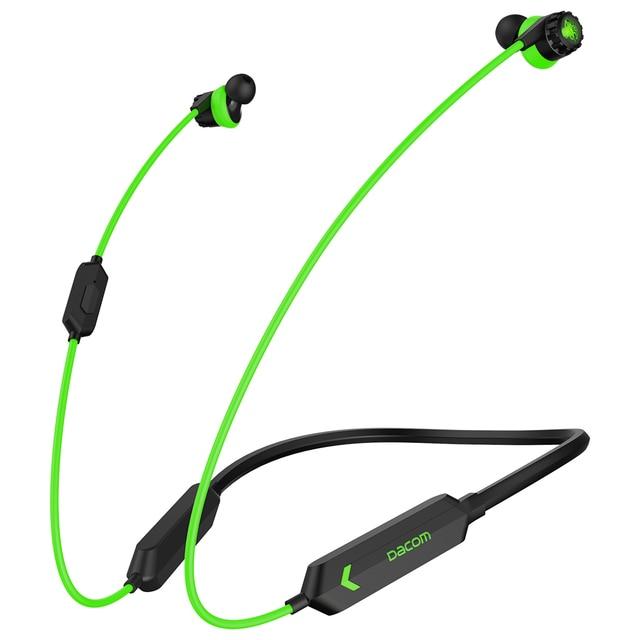 Dacom gh02 gaming bluetooth headset gamer aptx super bass fone de ouvido sem fio com microfone rgb led luz para o telefone móvel