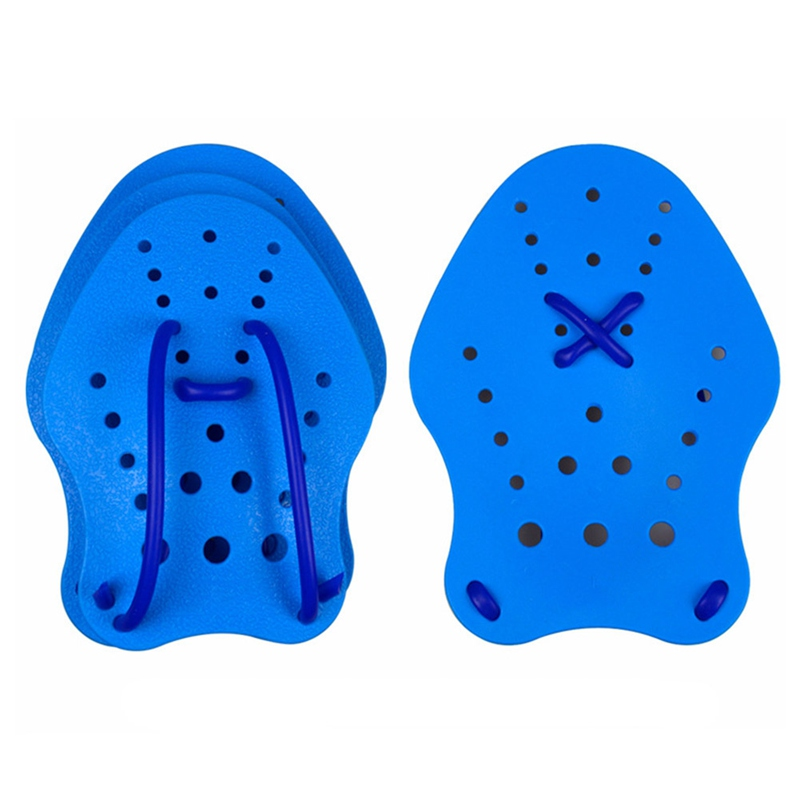 Nodiscount1pair Swimming Paddles Adjustable PVC Silicone Diving Hand Paddle Webbed Gloves