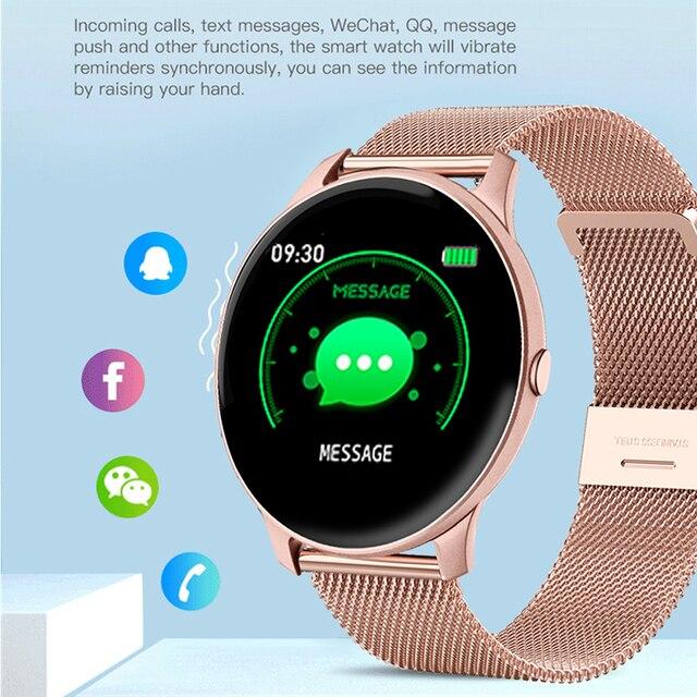 LIGE 2021 Fashion Smart Watch Ladies Heart Rate Blood Pressure Multifunctional Sport Watch Men Woman Waterproof Smartwatch Women 6
