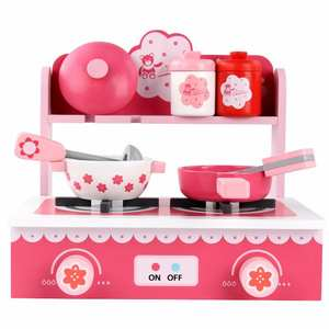 Toys Gas-Stove Simulated Wood Birthday-Present Kitchen Girls Children Pink And New-Products