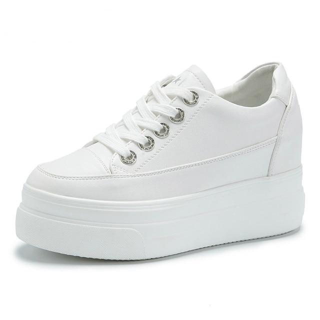 White Platform Sneakers Women Shoes