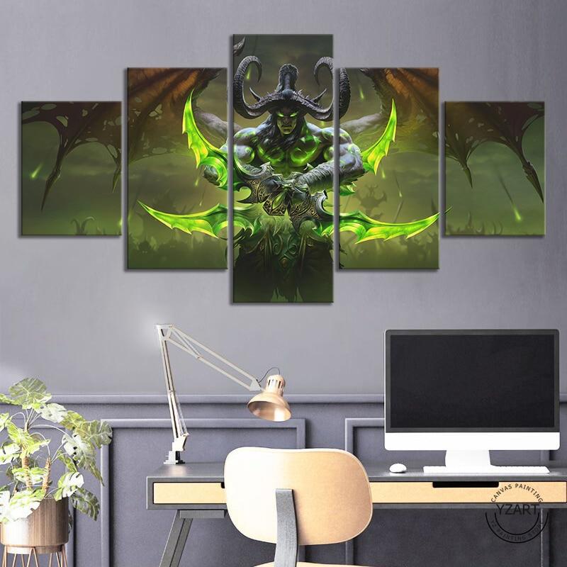 Vidoe Иллидан Stormrage WOW постер видео абстрактное украшение дома красивая игра настенное искусство картины для мальчиков декор комнаты