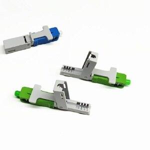 Image 1 - 100PCS FTTH SC UPC APC אופטי fibe מהיר מחבר SC FTTH סיבים אופטיים SC מחבר