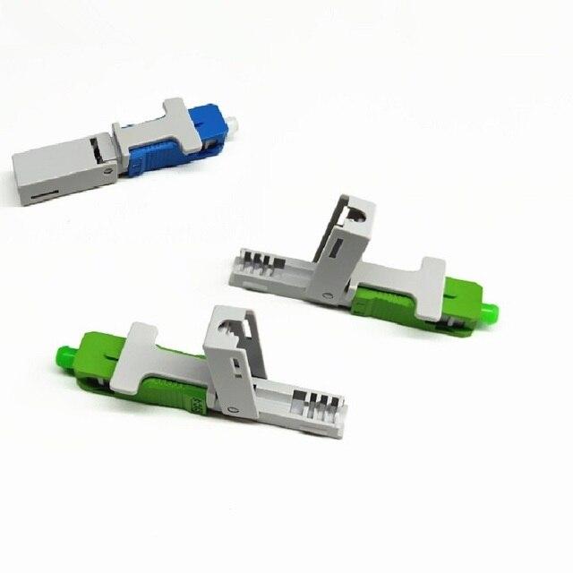 100PCS FTTH SC UPC APC אופטי fibe מהיר מחבר SC FTTH סיבים אופטיים SC מחבר