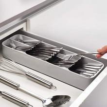 Дропшиппинг кухонный ящик Органайзер лоток Ложка Столовые приборы разделение Отделка Коробка для хранения столовые приборы кухонные контейнеры для хранения