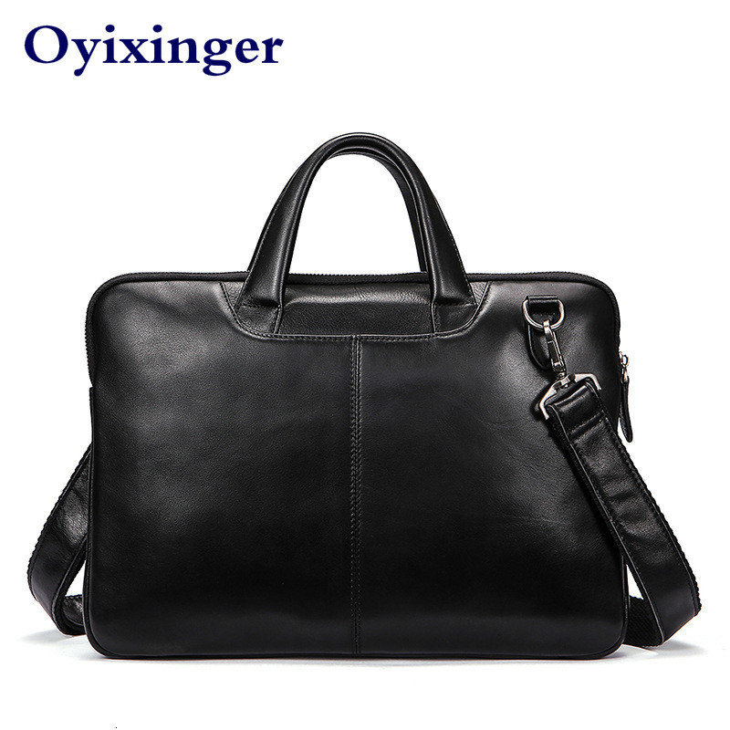 High Quality Men Briefcases Bag Business Men's Laptop Bag Genuine Leather Briefcase Men Leather Briefcases Male Bolso Hombre New