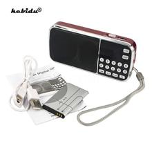 Kebidu Mini głośnik MP3 odtwarzacz Audio latarka wzmacniacz Micro SD TF Radio FM moda L 088 przenośny głośnik HIFI